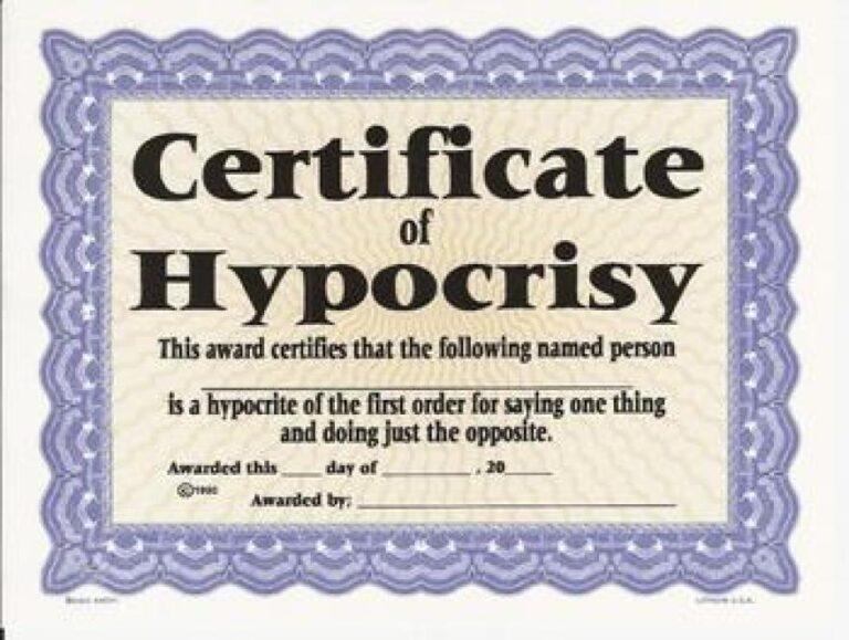 Biden – A First Class Hypocrite!